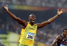 100 m maailmanennätys, Usain Bolt kuva