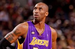 NBA-tähti Kobe Bryant kuvaa, taustakuva