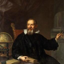 Italialainen fyysikko Galileo kuvaa, taustakuva