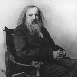 Dmitry Mendeleev kuvaa, taustakuva